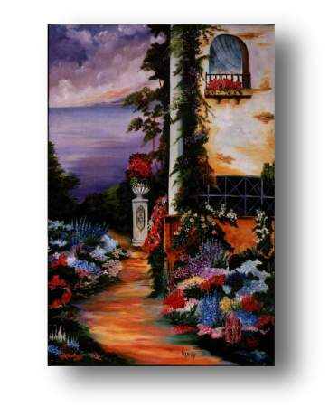 Garden Path, oil  painting & prints available